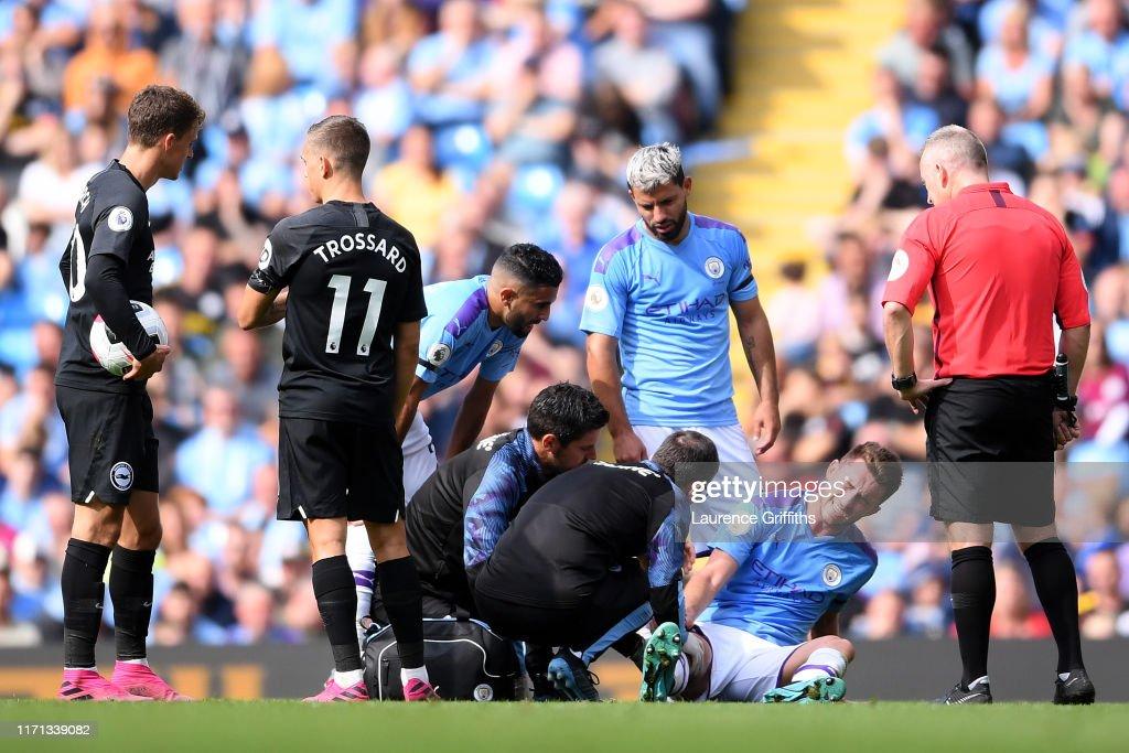 Manchester City v Brighton & Hove Albion - Premier League : ニュース写真