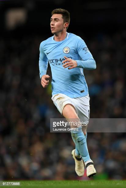 Aymeric Laporte of Manchester City runs during the Premier League match between Manchester City and West Bromwich Albion at Etihad Stadium on January...