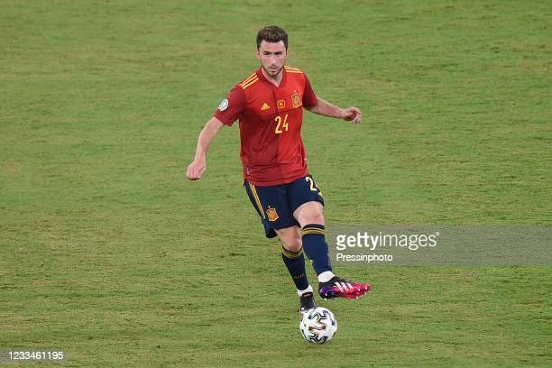 Aymeric Laporte of Spain during the match between Spain and Sweden of Euro 2020, group E, matchday 1, played at La Cartuja Stadium on June 14, 2021...