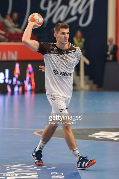 Aymeric Minne of Pays d'Aix Universite during the Lidl Starligue match between Paris Saint Germain and Pays d'Aix Universite Club at Stade Pierre de...