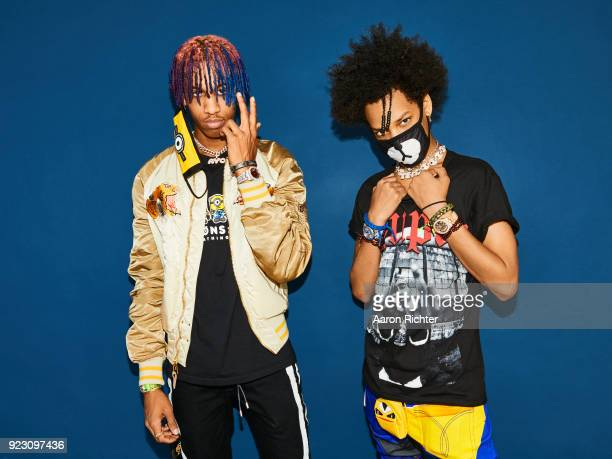 Ayo and Teo are photographed for Billboard Magazine on August 20 2017 at the Billboard Hot 100 Music Festival at Northwell Heath at Jones Beach...