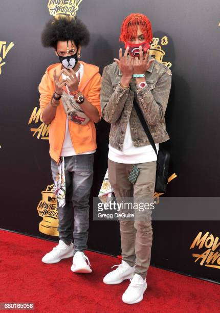 Ayo and Teo arrive at the 2017 MTV Movie And TV Awards at The Shrine Auditorium on May 7 2017 in Los Angeles California
