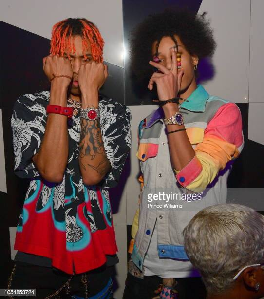 Ayo and Teo attend Usher's Birthday Party at Gold Room on October 14 2018 in Atlanta Georgia