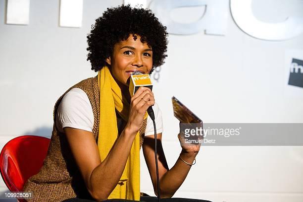 Ayo meets fans at fnac forum des halles on March 10 2011 in Paris France