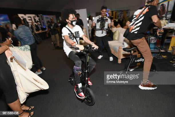Ayo of musical group Ayo and Teo attends the 2018 BET Awards Gift Lounge on June 22 2018 in Los Angeles California