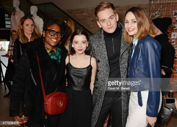 Ayo Sule Marama Corlett Jonny Lamb and Tuppence Middleton attend the Warehouse Oxford Street Flagship Store Launch on March 6 2014 in London England
