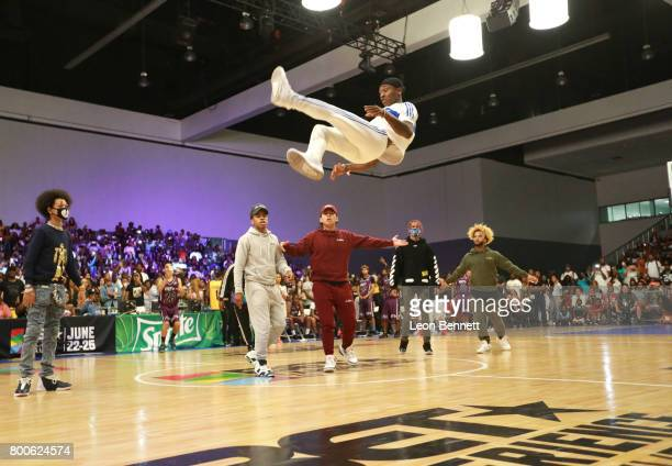 Ayo Teo at the Celebrity Basketball Game presented by Sprite and State Farm during the 2017 BET Experience at Los Angeles Convention Center on June...