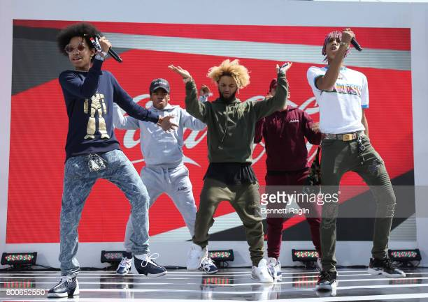 Ayo Teo performs onstage during night three of BETX Live sponsored by CocaCola during the 2017 BET Experience at LA Live on June 24 2017 in Los...