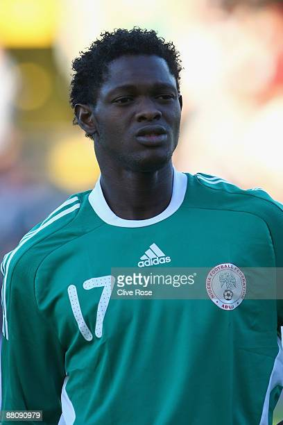 Ayodele Adeleye of Nigeria during an International Friendly match between Republic of Ireland and Nigeria at Craven Cottage on May 29 2009 in London...