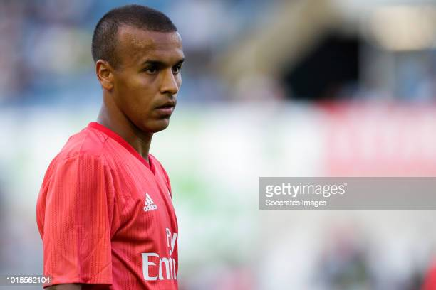 Ayoub Abou Oulam of Real Madrid Castilla CF during the match between Racing Santander v Real Madrid Castilla CF at the Estadio El Sardinero on August...