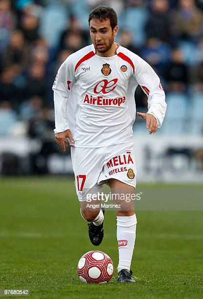 Ayoze Diaz of Mallorca in action during the La Liga match between Getafe and Mallorca at Coliseum Alfonso Perez on March 13 2010 in Getafe Spain