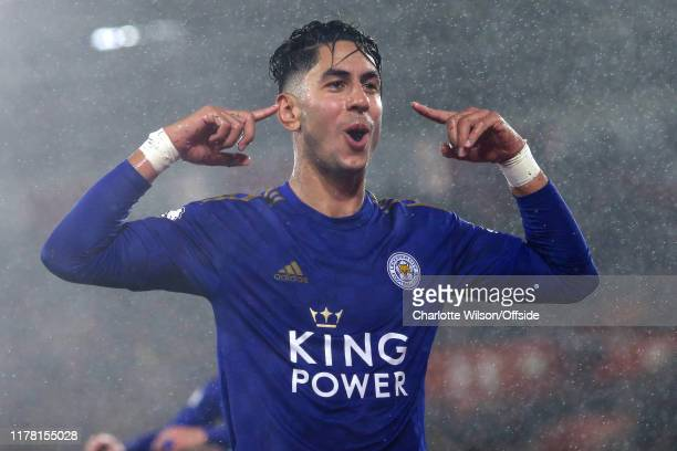 Ayoze Perez of Leicester celebrates scoring their 4th goal during the Premier League match between Southampton FC and Leicester City at St Mary's...