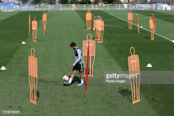 Ayoze Perez of Leicester City during the Leicester City training session at Belvoir Drive Training Complex on May 26th, 2020 in Leicester, United...