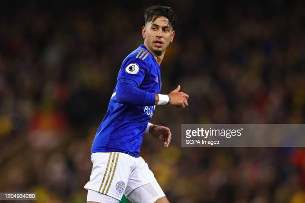 Ayoze Perez of Leicester City during the Premier League match between Norwich City and Leicester City at Carrow Road Final Score Norwich City 10...