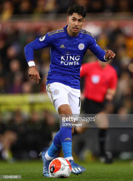 Ayoze Perez of Leicester City in action during the Premier League match between Norwich City and Leicester City at Carrow Road Final Score Norwich...