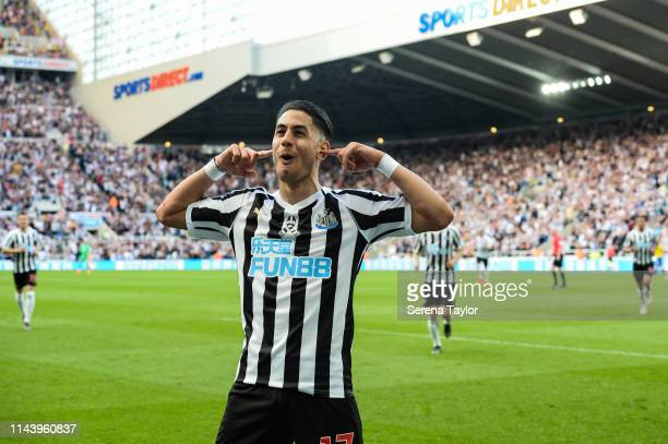 Ayoze Perez of Newcastle United celebrates after scoring his second gaol during the Premier League match between Newcastle United and Southampton FC...