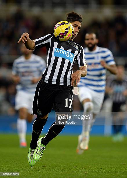 Ayoze Perez of Newcastle United during the Barclays Premier League football match between Newcastle United and Queeens Park Rangers at St James' Park...