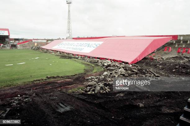Ayresome Park the home of Middlesbrough FC is demolished following the clubs move to their new stadium 27th August 1996