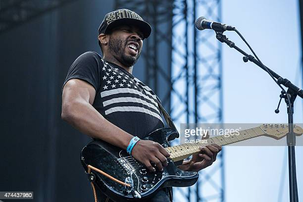 Ayron Jones of Ayron Jones and The Way performs at the Sasquatch Music Festival at The Gorge on May 22 2015 in George Washington