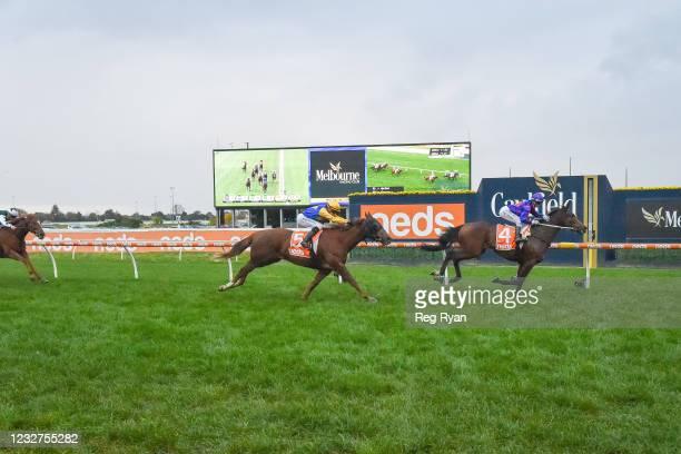 Ayrton ridden by Jamie Kah wins the Darren Gauci Handicap at Caulfield Racecourse on May 08, 2021 in Caulfield, Australia.