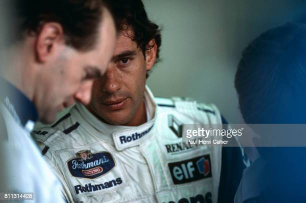 Ayrton Senna Adrian Newey Grand Prix of Brazil Interlagos 27 March 1994