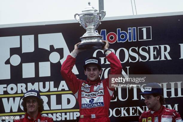 Ayrton Senna Alain Prost Gerhard Berger Grand Prix of Germany Hockenheimring 24 July 1988
