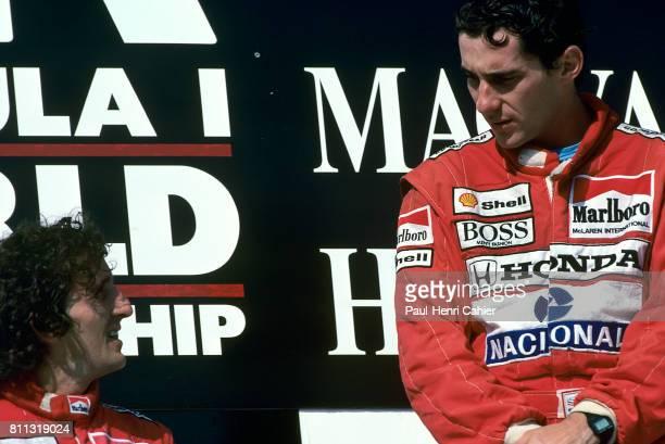 Ayrton Senna, Alain Prost, Grand Prix of Hungary, Hungaroring, 07 August 1988.