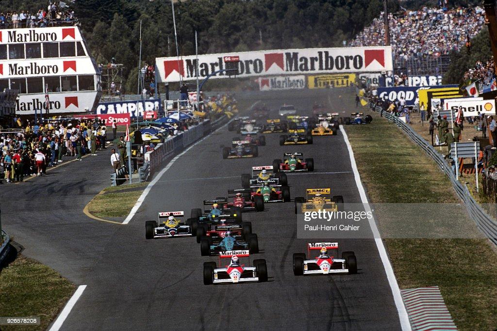Ayrton Senna, Alain Prost, Grand Prix Of Portugal : News Photo