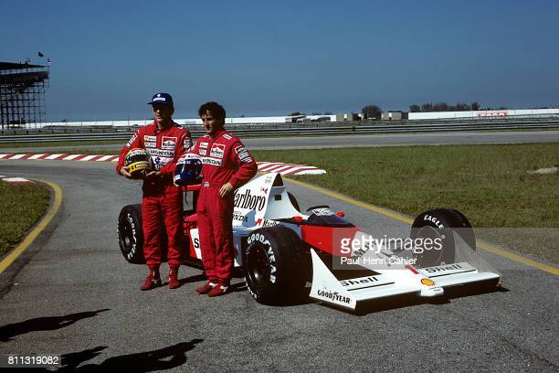 Ayrton Senna Alain Prost McLarenHonda MP4/5 Grand Prix of Brazil Jacarepagua 26 March 1989