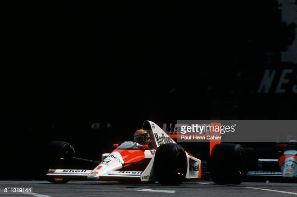 Ayrton Senna Alain Prost McLarenHonda MP4/5 Grand Prix of Monaco Monaco 27 May 1990