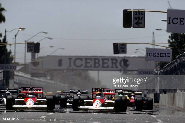 Ayrton Senna Alain Prost McLarenHonda MP4/5 Grand Prix of the United States Phoenix 04 June 1989