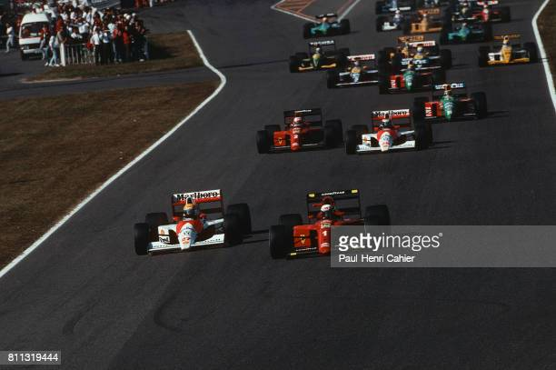 Ayrton Senna Alain Prost McLarenHonda MP4/5B Ferrari 641 Grand Prix of Japan Suzuka 21 October 1990