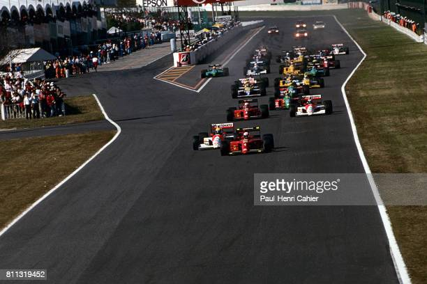 Ayrton Senna Alain Prost McLarenHonda MP4/5B Ferrari 641 Grand Prix of Japan Suzuka 21 October 1990
