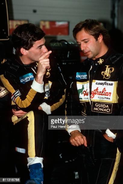 Ayrton Senna Elio De Angelis Grand Prix of Belgium SpaFrancorchamps 15 September 1985