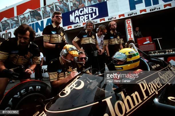 Ayrton Senna, Gerard Ducarouge, Lotus-Renault 97T, Grand Prix of Italy, Monza, 08 September 1985.