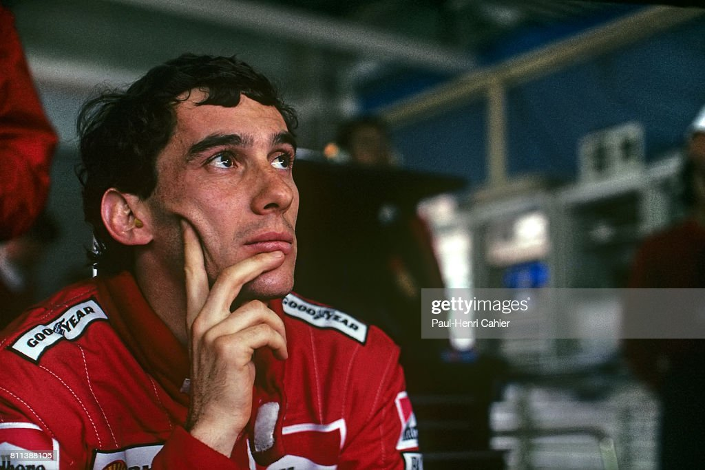 Ayrton Senna, Grand Prix Of Japan : News Photo