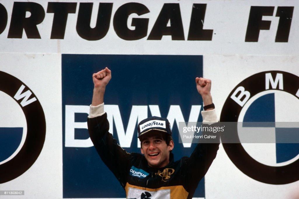 Ayrton Senna, Grand Prix Of Portugal : News Photo