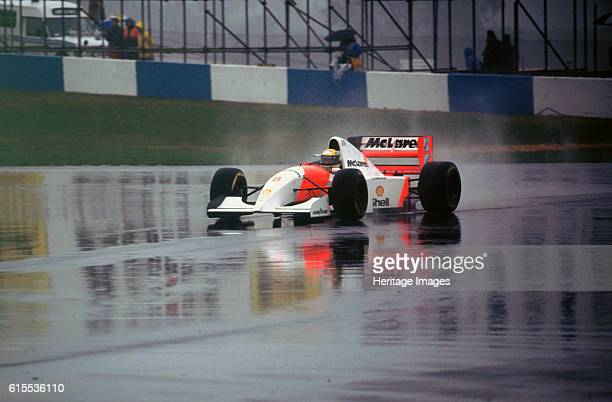 Ayrton Senna in the McLaren MP48 1993 European Grand Prix at Donington Artist Unknown