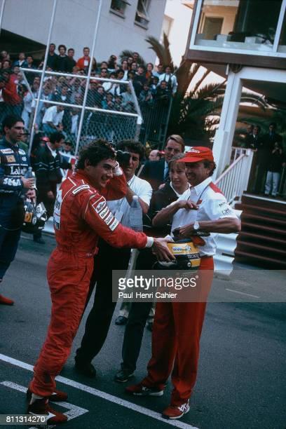 Ayrton Senna Jo Ramirez Grand Prix of Monaco Monaco 23 May 1993