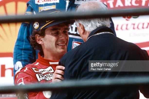 Ayrton Senna, Juan Manuel Fangio, Grand Prix of Brazil, Interlagos, 28 March 1993.