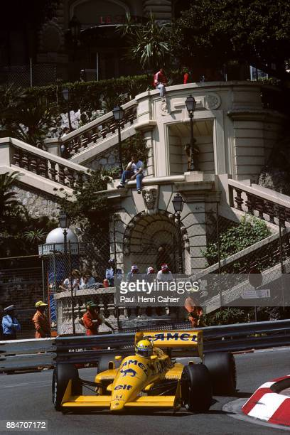 Ayrton Senna LotusHonda 99T Grand Prix of Monaco Circuit de Monaco 31 May 1987 Ayrton Senna during practice for the 1987 Monaco Grand Prix which he...