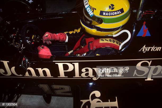 Ayrton Senna, Lotus-Renault 97T, Grand Prix of Brazil, Jacarepagua, 07 April 1985.