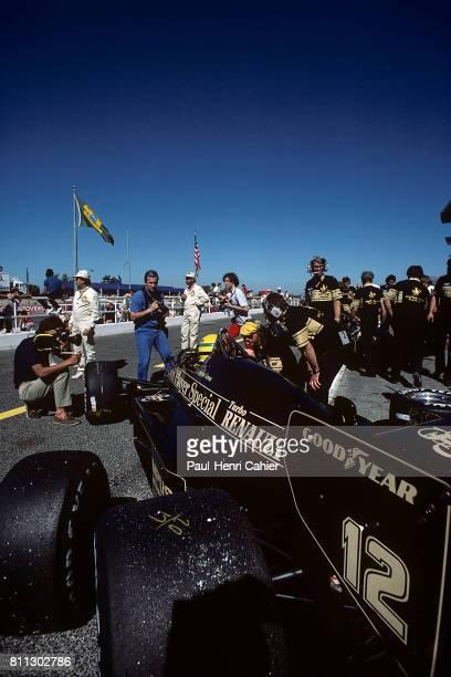 Ayrton Senna, Lotus-Renault 97T, Grand Prix of France, Paul Ricard, 07 July 1985.
