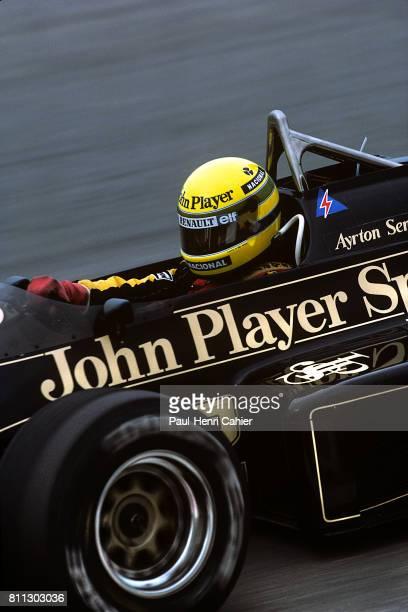 Ayrton Senna, Lotus-Renault 97T, Grand Prix of Portugal, Estoril, 21 April 1985.