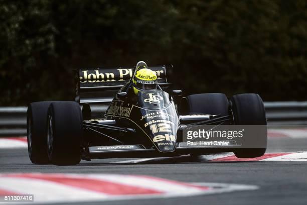 Ayrton Senna, Lotus-Renault 98T, Grand Prix of Belgium, Spa-Francorchamps, 25 May 1986.
