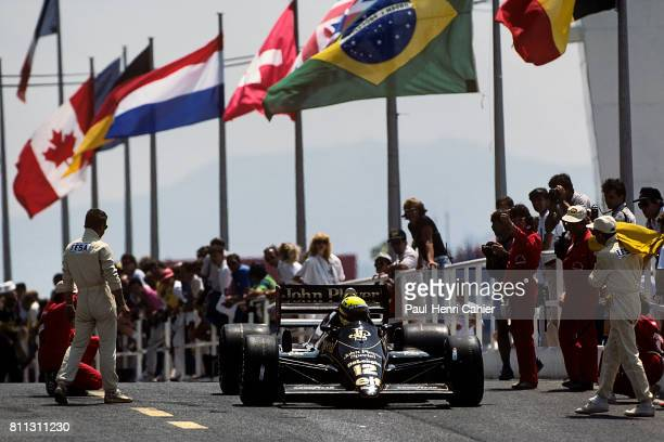 Ayrton Senna, Lotus-Renault 98T, Grand Prix of France, Paul Ricard, 06 July 1986.