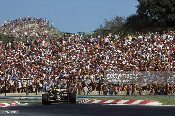 Ayrton Senna, Lotus-Renault 98T, Grand Prix of Hungary, Hungaroring, 10 August 1986.