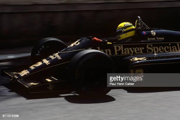 Ayrton Senna, Lotus-Renault 98T, Grand Prix of Monaco, Monaco, 11 May 1986.