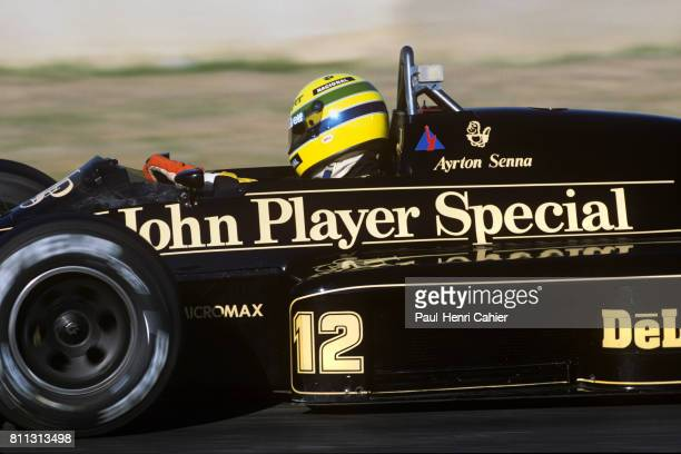 Ayrton Senna, Lotus-Renault 98T, Grand Prix of Spain, Jerez, 13 April 1986.