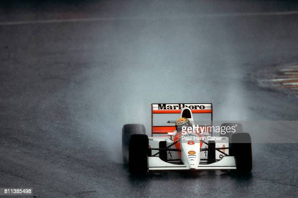 Ayrton Senna, McLaren-Ford MP4/8, Grand Prix of Brazil, Interlagos, 28 March 1993.